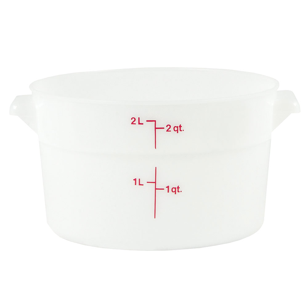 Cambro RFS2148 2-qt Round Storage Container - Natural White