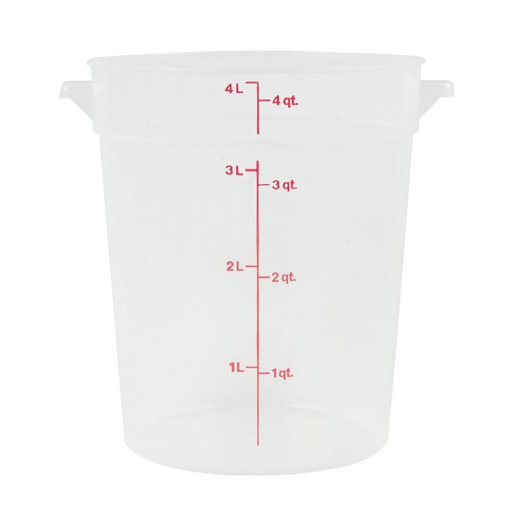 Cambro RFS4PP190 4-qt Round Storage Container - Translucent
