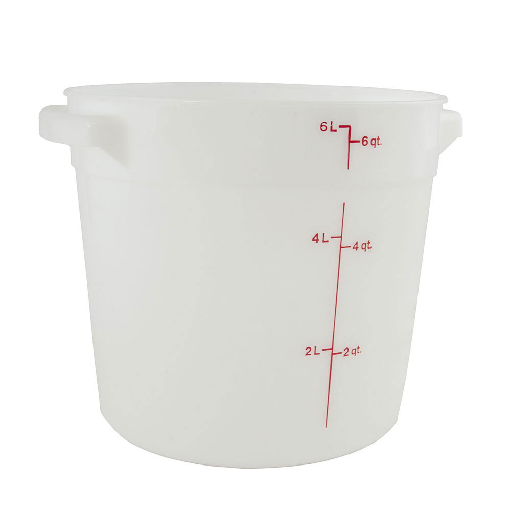 Cambro RFS6148 6-qt Round Storage Container - Natural White