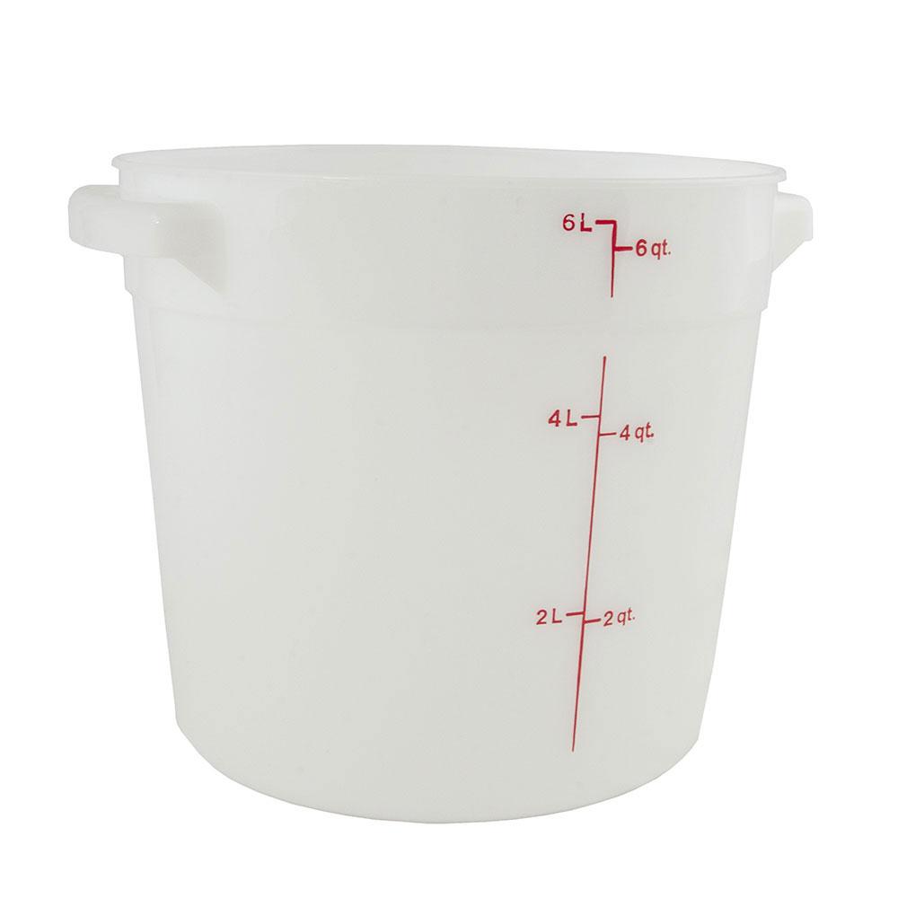 Cambro RFS6148 6-qt Round Storage Container - Natural White