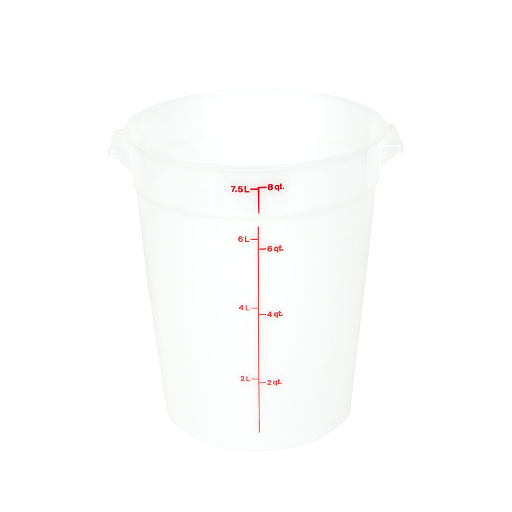 Cambro RFS8148 8-qt Round Storage Container - Natural White