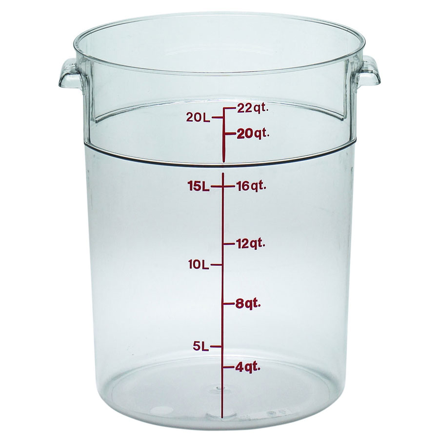 Cambro RFSCW22135 22-qt Camwear Round Storage Container - Clear