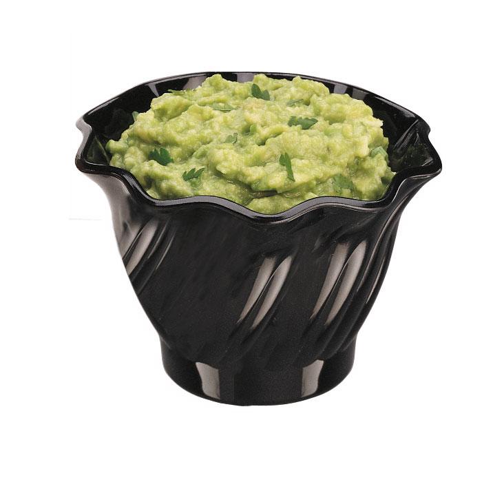 Cambro SRB5CW110 5-oz Swirl Serving Bowl - Polycarbonate, Black