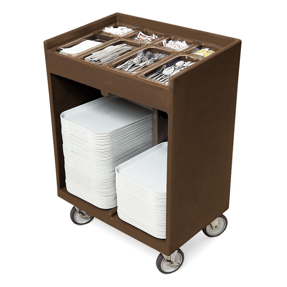 Cambro TC1418131 Tray & Silver Cart - Pans/Cover, Dark Brown