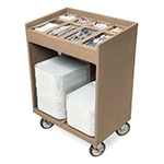 Cambro TC1418157 Tray & Silver Cart - Pans/Cover, Coffee Beige