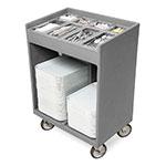 Cambro TC1418191 Tray & Silver Cart - Pans/Cover, Granite Gray