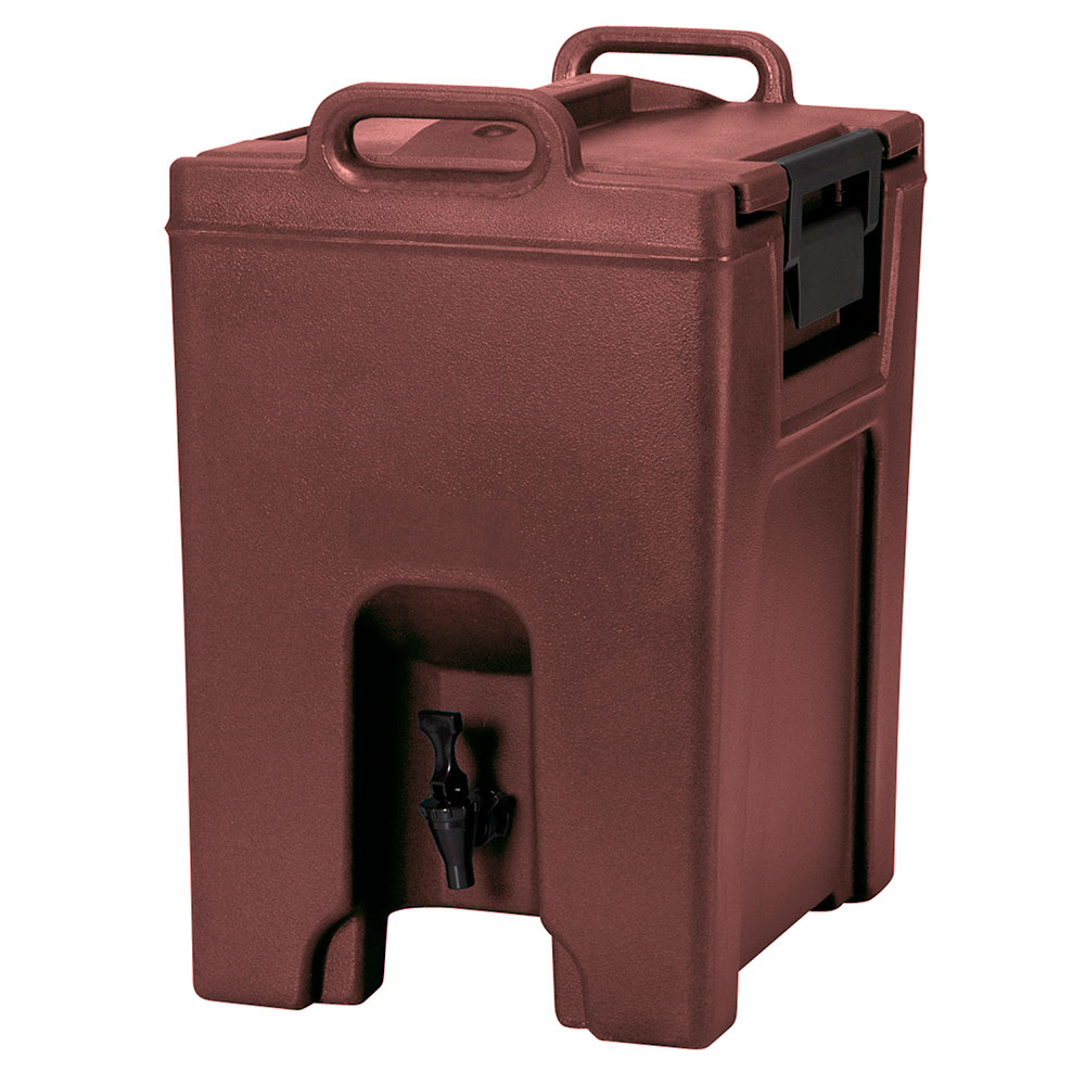 Cambro UC1000402 10-1/2-gal Ultra Camtainer Beverage Carrier - Insulated, Brick Red