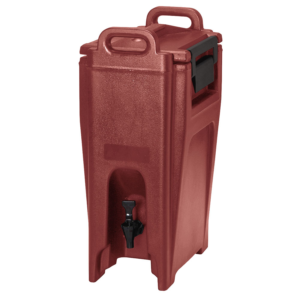 Cambro UC500402 5-1/4-gal Ultra Camtainer Beverage Carrier - Insulated, Brick Red