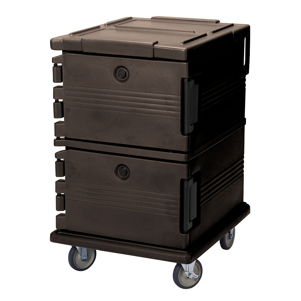 Cambro UPC1200131 90-qt Camcarrier Ultra Pan Carrier - Front Loading, Dark Brown