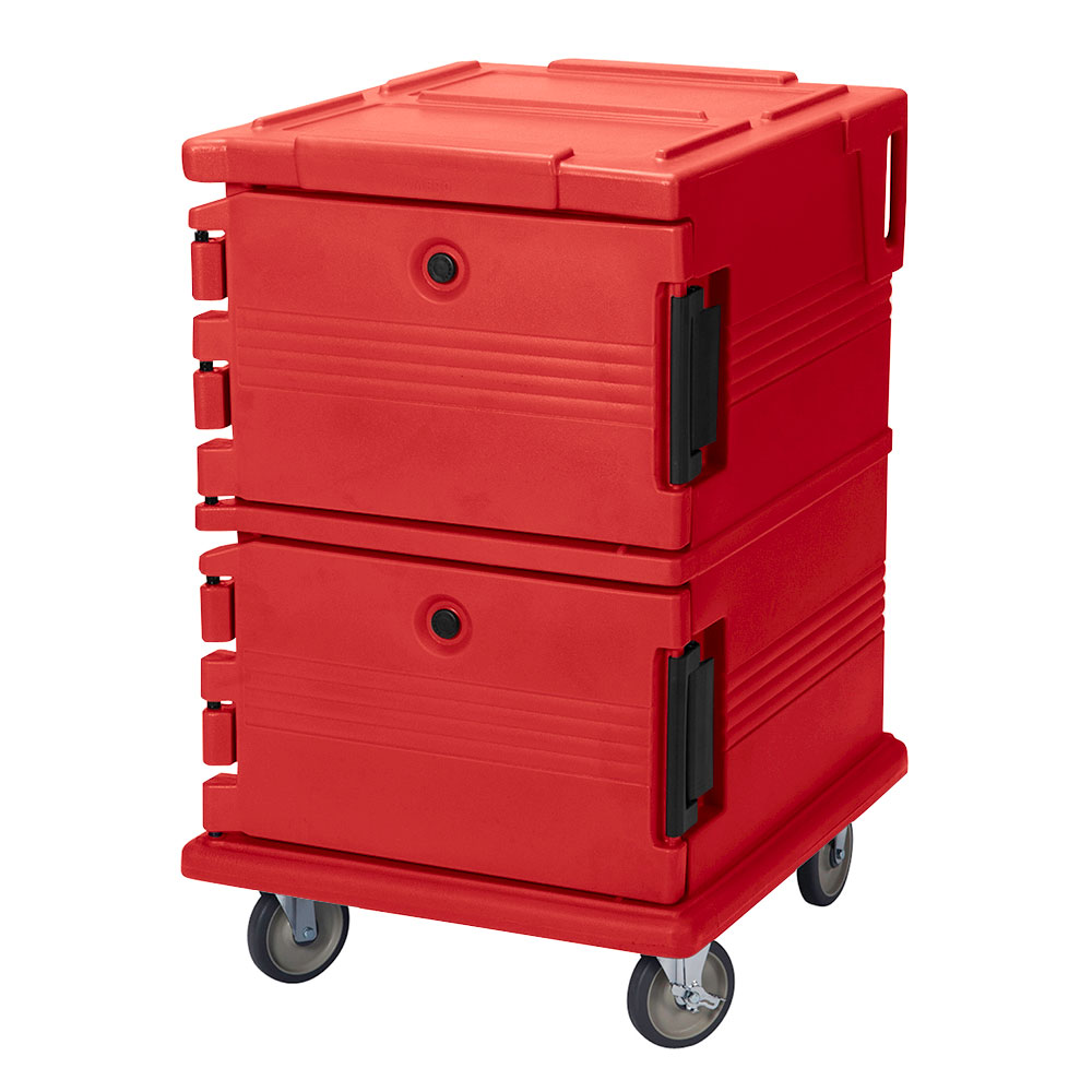 Cambro UPC1200158 90-qt Camcarrier Ultra Pan Carrier - Front Loading, Hot Red