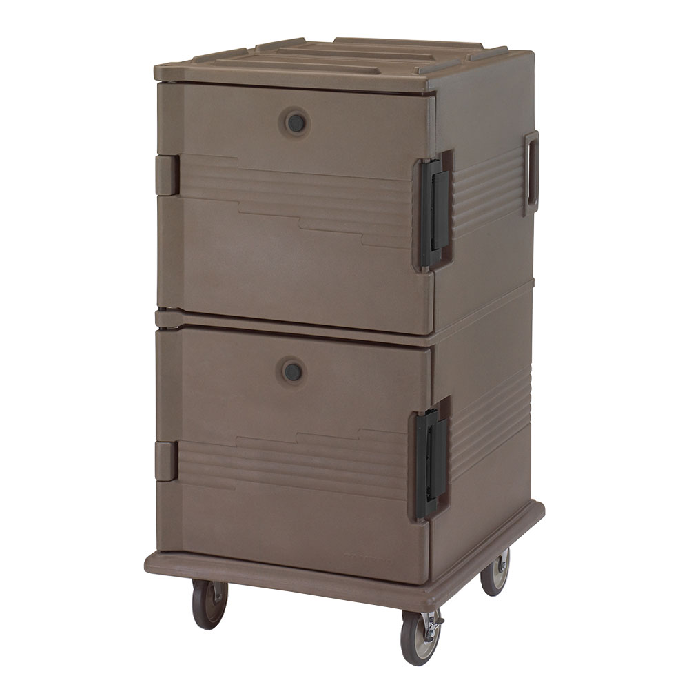 Cambro UPC1600131 120-qt Camcarrier Ultra Pan Carrier - Front Loading, Dark Brown