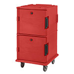 Cambro UPC1600158 120-qt Camcarrier Ultra Pan Carrier - Front Loading, Hot Red