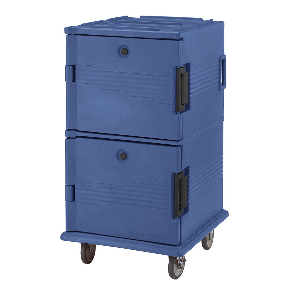 Cambro UPC1600186 120-qt Camcarrier Ultra Pan Carrier - Front Loading, Navy Blue