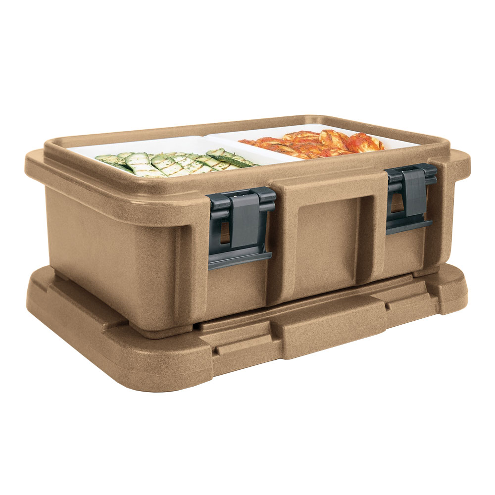 Cambro UPC160157 20-qt Camcarrier Ultra Pan Carrier - (1)Full Size Pan, Coffee Beige