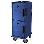 Cambro UPC800186 60-qt Camcart Ultra Pan Carrier - Front Loading, Navy Blue