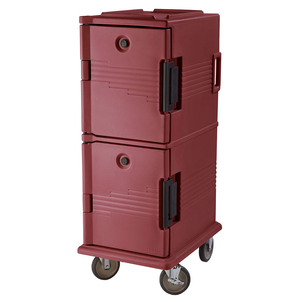 Cambro UPC800402 60-qt Camcart Ultra Pan Carrier - Front Loading, Brick Red