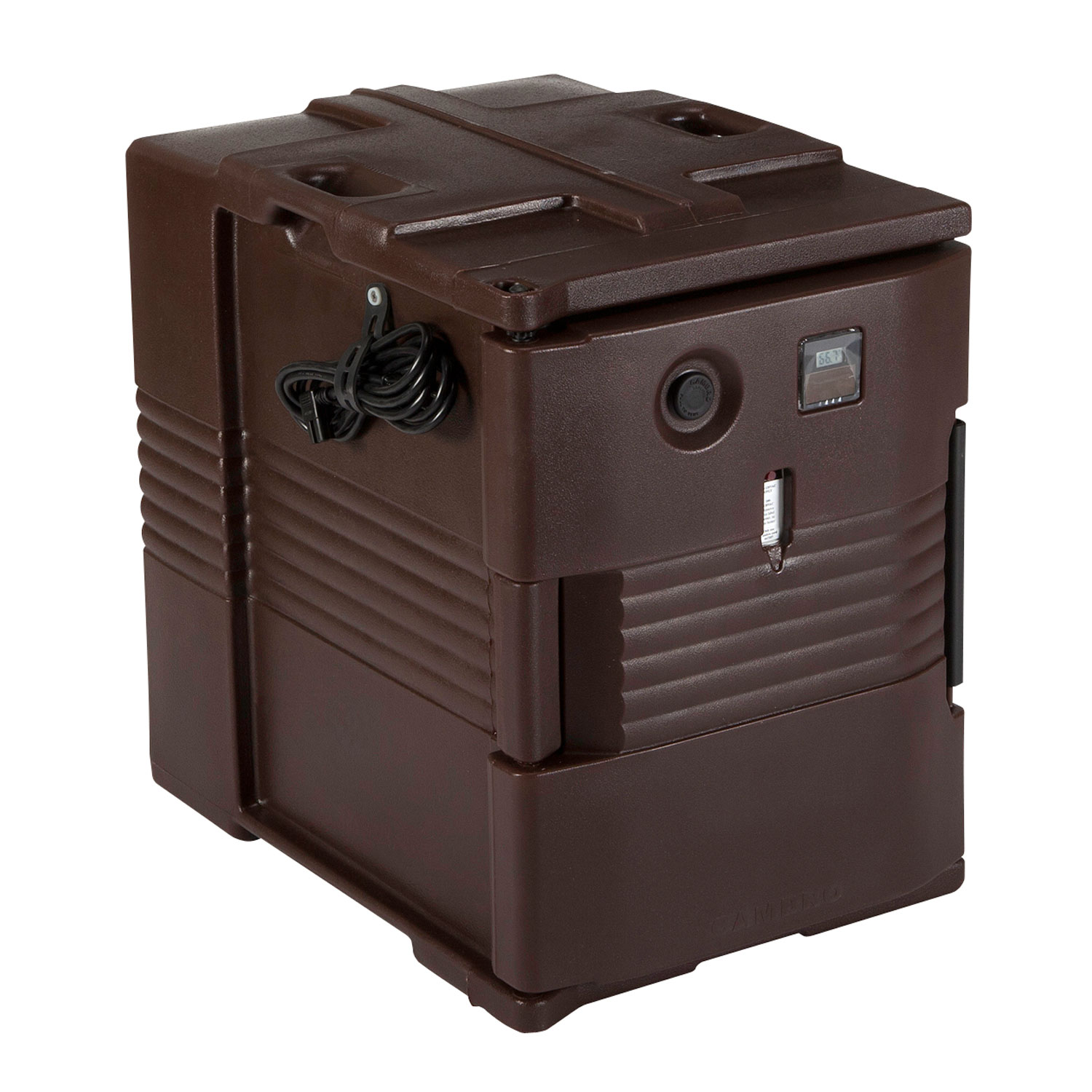 Cambro UPCH400131 Camcarrier Hot Ultra Pancarrier - Front Loading, Dark Brown 110v