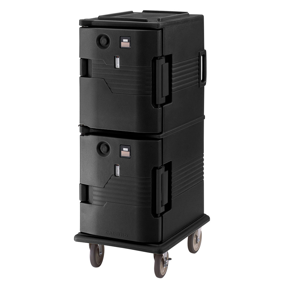 Cambro UPCH800110 Camcart Hot Ultra Pancarrier - Front Loading, Black 110v