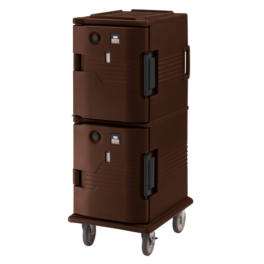 Cambro UPCH8002131 Camcart Hot Ultra Pancarrier - Front Loading, Dark Brown 220v