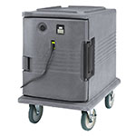 Cambro UPCHW400191 Camcarrier Heated Pancarrier - Front Loading, Granite Gray 110v