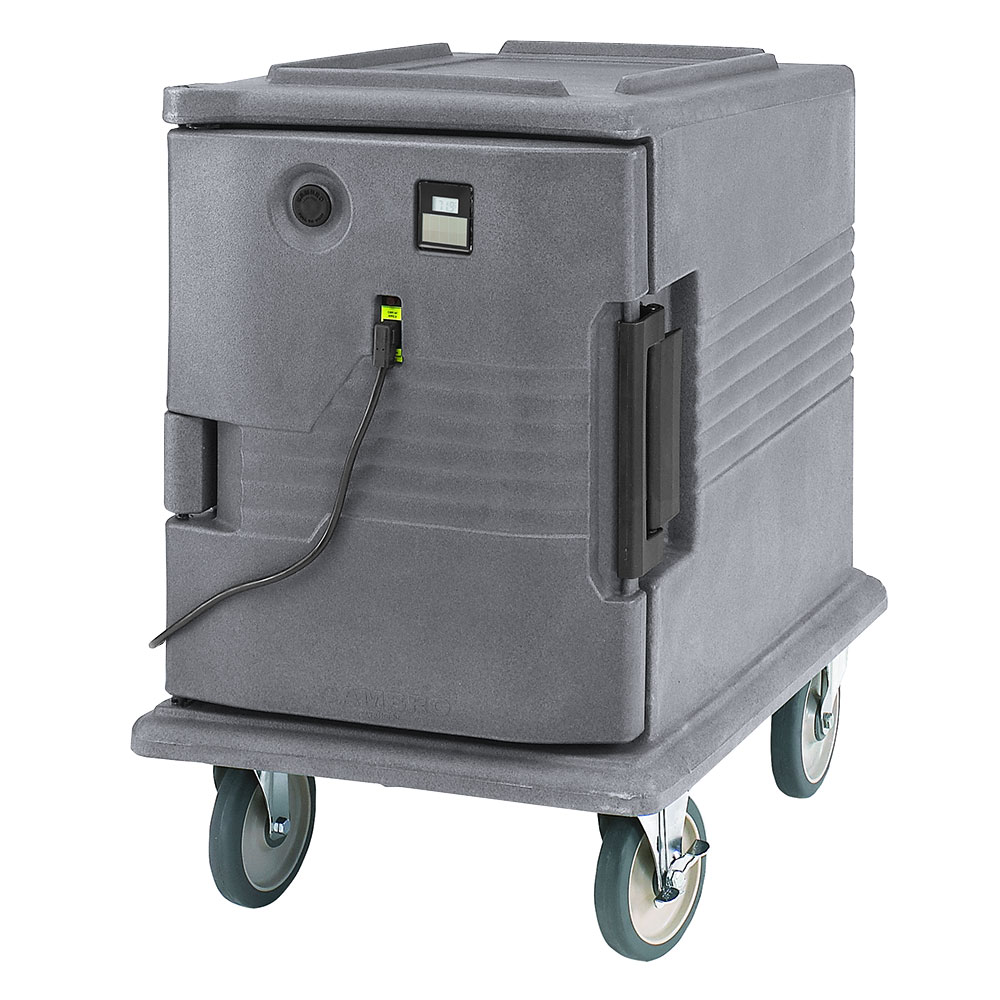 Cambro UPCHW4002191 Camcarrier Heated Pancarrier - Front Loading, Granite Gray 220v