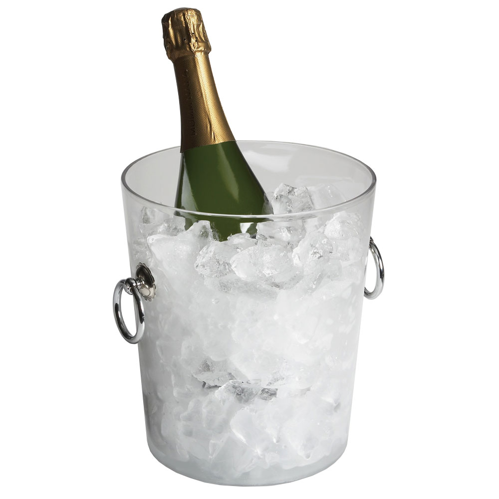 "Cambro WC100CW135 8"" Wine Cooler/Bucket with Handles - Clear"