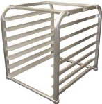 Win-Holt AL1807IRKD Half Size Insert Rack, End Loading, Holds 7-Trays