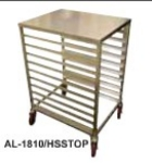 "Win-Holt AL1810/H-SS-TOP 21""W 10-Sheet Pan Rack w/ 3"" Bottom Load Slides"