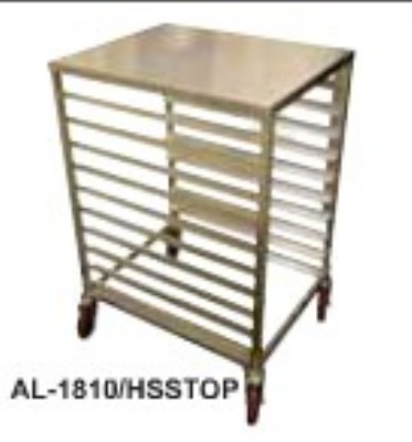 "Win-Holt AL1810/H-SS-TOP 1/2-Size Aluminum Pan Rack, Holds 10-Pans, 21 x 26 x 38"" H"