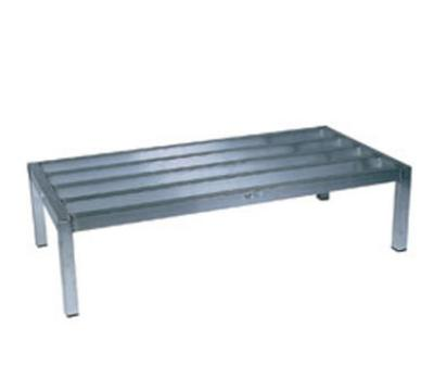 "Win-Holt ALSQ51224 Dunnage Rack, Heavy Duty Aluminum, 24 D x 60 in L x 12"" H"