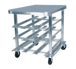 Win-Holt CR72SS Low Profile Can Dispensing Rack w/ Worktop, (72) #10 Cans