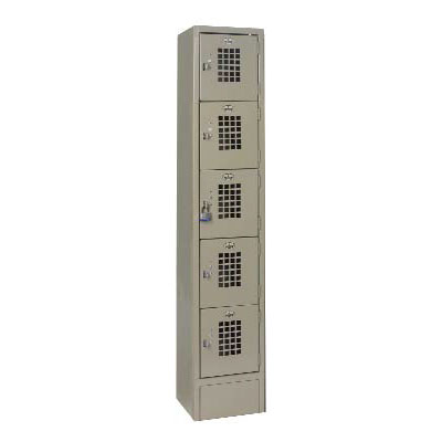 Win-holt WL-55 1-Column 5-Tier Locker, 10 x 12 x 12-in Compartments