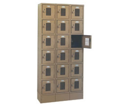 Win-Holt WL618 3-Column 6-Tier Locker, 10 x 12 x 12-in Compartments