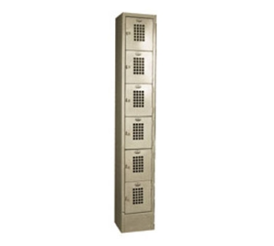 "Win-Holt WL-66 1-Column 6-Tier Locker, 10 x 12 x 12"" Compartments"