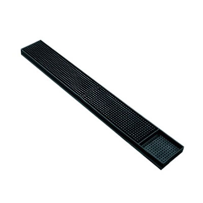 "Spill-Stop 160-02 Bar Mat - 3.25"" x 24"", Black"