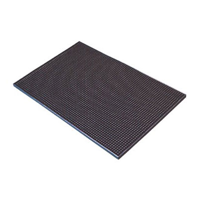 "Spill-Stop 161-02 Flexible Bar Mat - 12"" x 18"", Black"