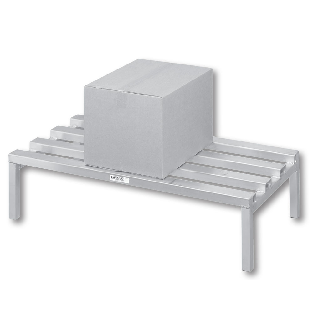 """Channel 329CA 48"""" Stationary Dunnage Rack w/ 2500-lb Capacity, Aluminum"""