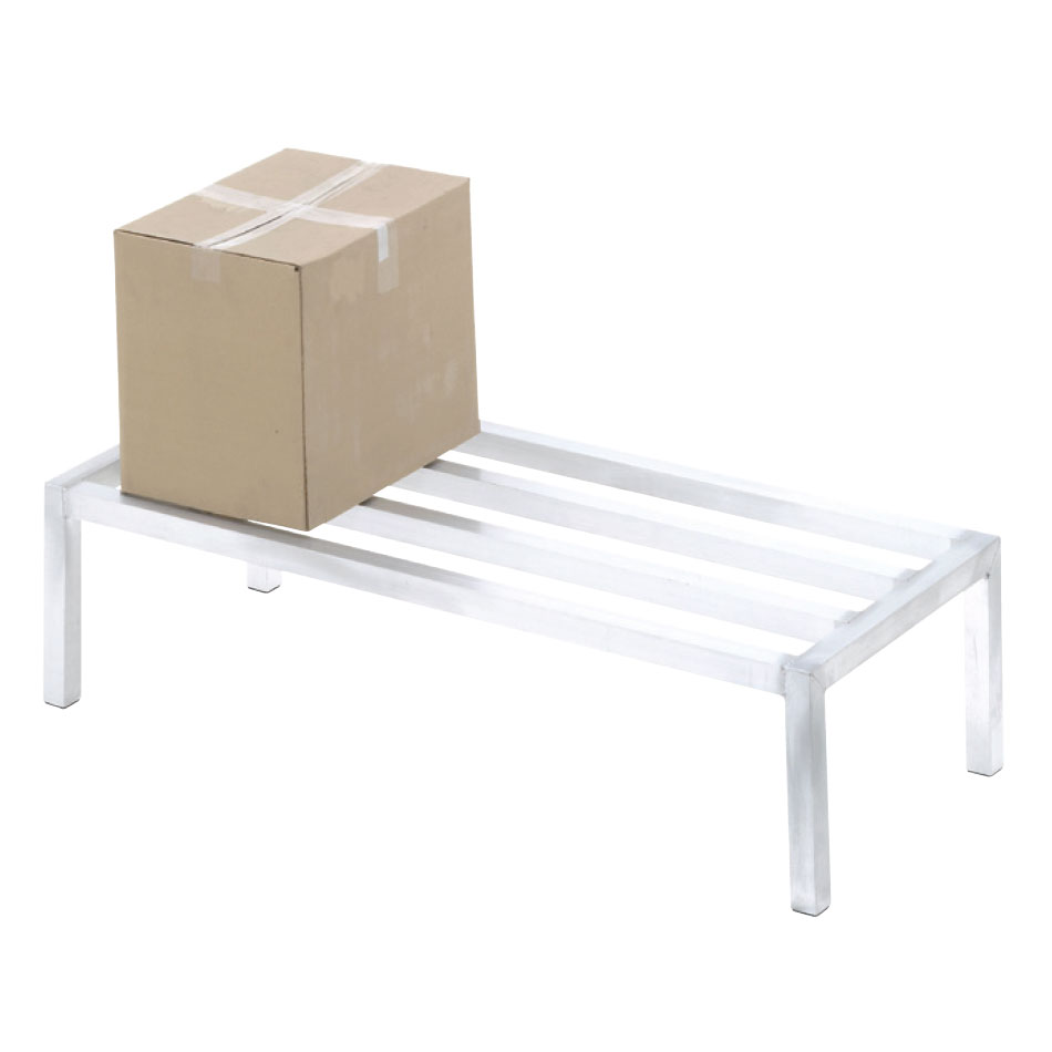"Channel ADE2448 48"" Stationary Dunnage Rack w/ 2000-lb Capacity, Aluminum"