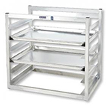"Channel AWM6 Wall Mounted Sheet Pan Rack w/ (6) Full-Size Pan Capacity, 3"" Spacing, Aluminum"