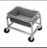 "Channel AXD501L 16"" Lug Rack w/ 1-Lug Capacity & Swivel Casters, Aluminum"