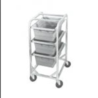 Channel AXD503L 40.5-in Lug Rack w/ 3-Lug Capacity & Swivel Casters, Aluminum