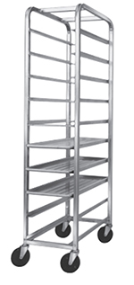 "Channel AXD519P 70"" Platter Rack w/ 10-Platter Capacity for 12.5"" Platter & 6"" Spacing, Aluminum"