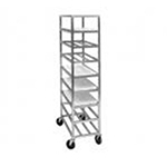 "Channel AXDUPR8 8-Shelf Mobile Platter Rack w/ 6.75"" Spacing, Aluminum"
