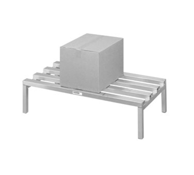 Channel 334CA 12-in Dunnage Rack w/ 2500-lb Capacity, 60x24-in, Aluminum