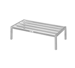 Channel 334ED 12-in Tubular Dunnage Rack w/ 2200-lb Capacity, 60x24-in, Aluminum