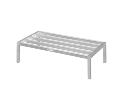 Channel 333ED 12-in Tubular Dunnage Rack w/ 2200-lb Capacity, 48x24-in, Aluminum