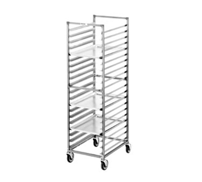 "Channel 403S Standard Front Loading Bun Pan Rack w/ 12-Pan Capacity & 5"" Spacing, Stainless"