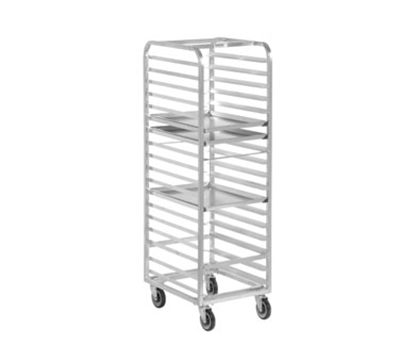 Channel 406A Standard Front Loading Bun Pan Rack w/ 18-Pan Capacity & 3-in Spacing, Aluminum
