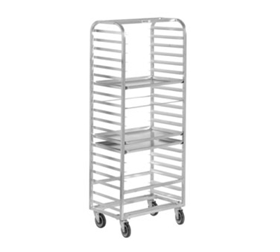 "Channel 414A Standard Side Loading Bun Pan Rack w/ 10-Pan Capacity & 6"" Spacing, Aluminum"