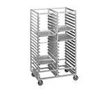 "Channel 458A Side Loading Cafeteria Tray Rack w/ 60-Tray Capacity for 14x18"" Tray & 4"" Spacing, Aluminum"